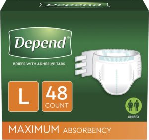 Depend Incontinence Protection Adult Diapers for Diarrhea